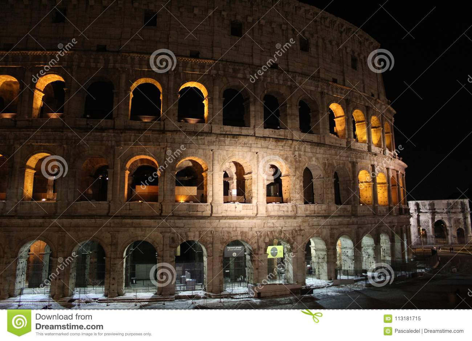 Colosseum à la nuit