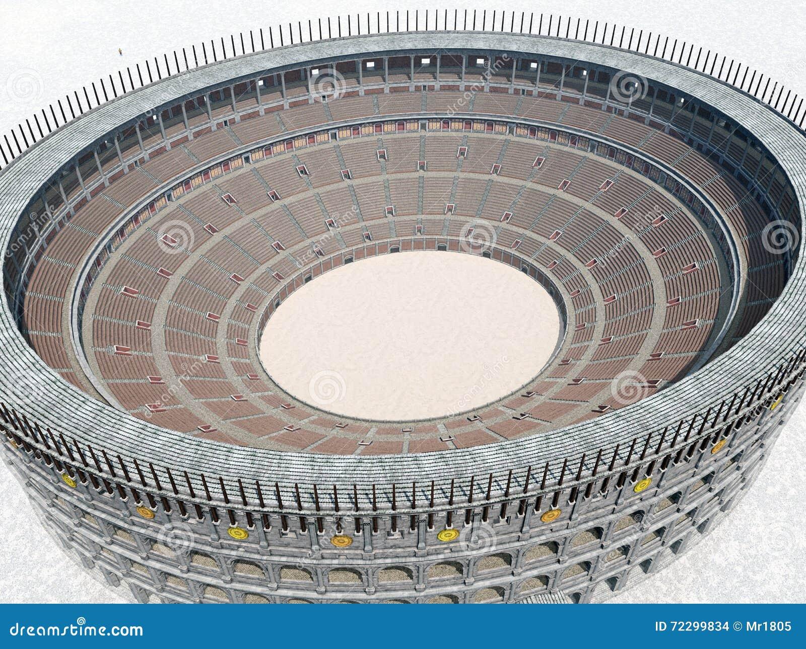 Download Colosseum в старом Риме иллюстрация штока. иллюстрации насчитывающей историческо - 72299834