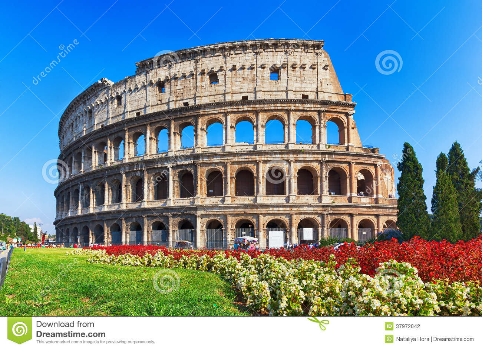 Colosseum antiguo en Roma, Italia