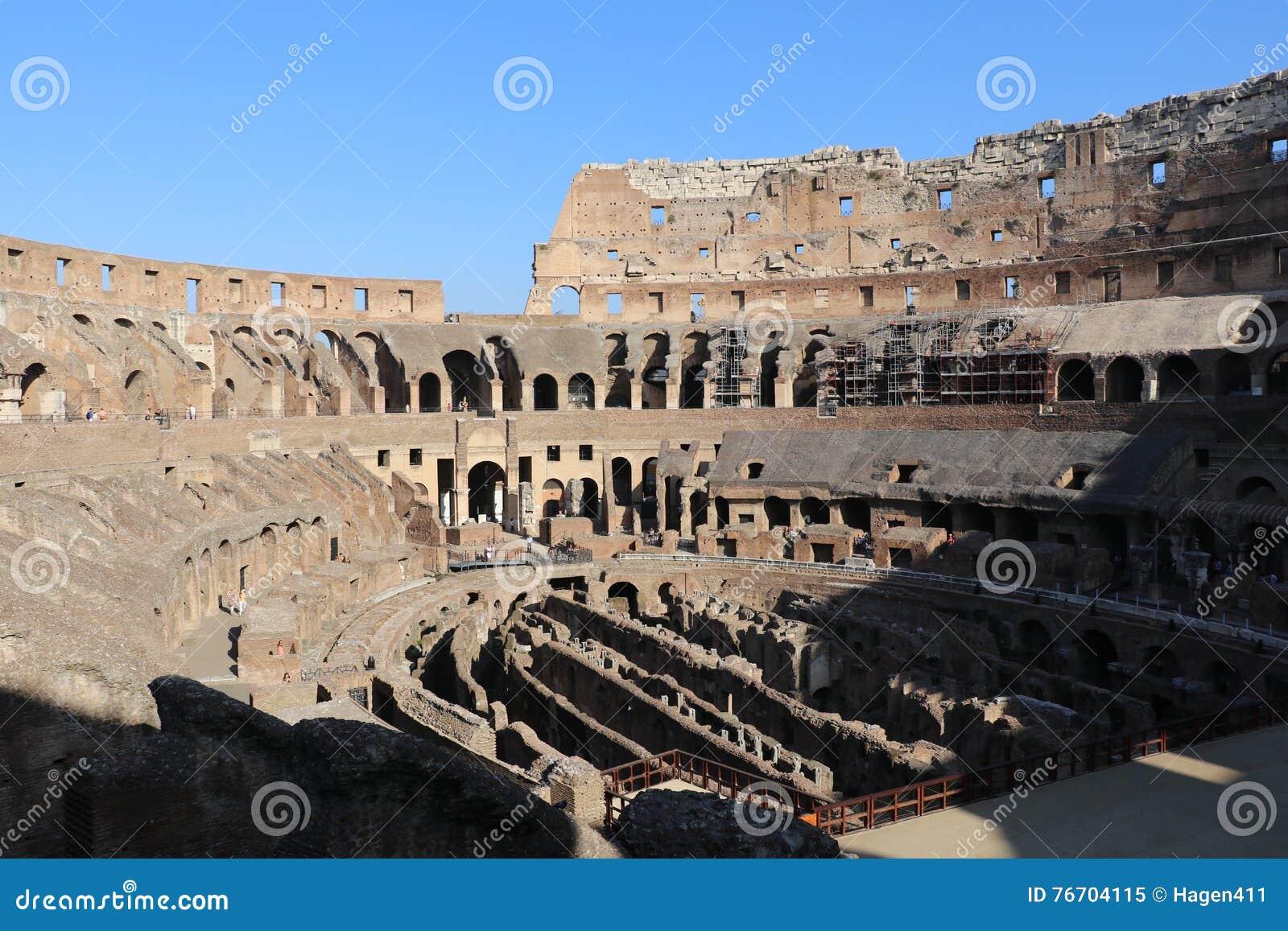 Colosseum berömda italy mest ställerome sikt