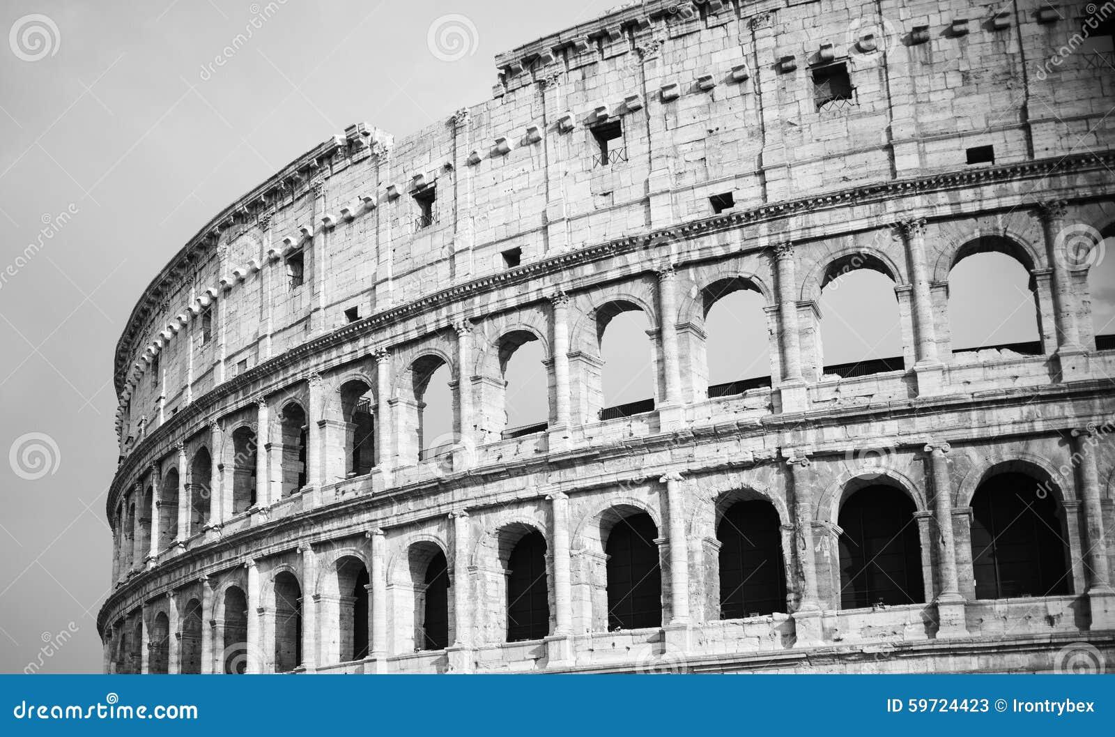 Colosseum in bianco e nero d 39 annata a roma fotografia for Roma in bianco e nero
