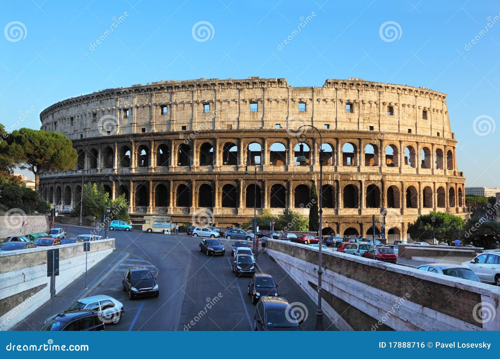 Colosseum, borne limite de renommée mondiale à Rome