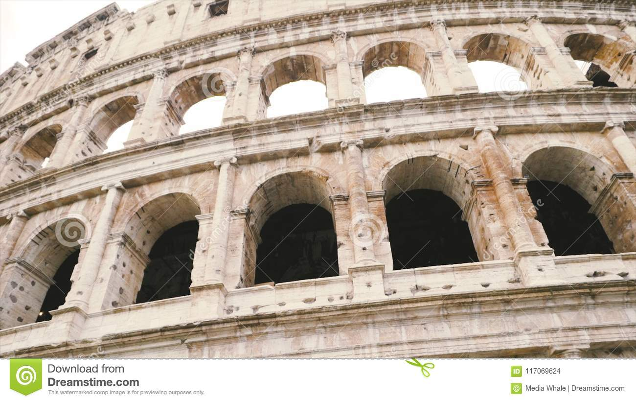 Colosseum Closeup View Stock The World Known Landmark And The