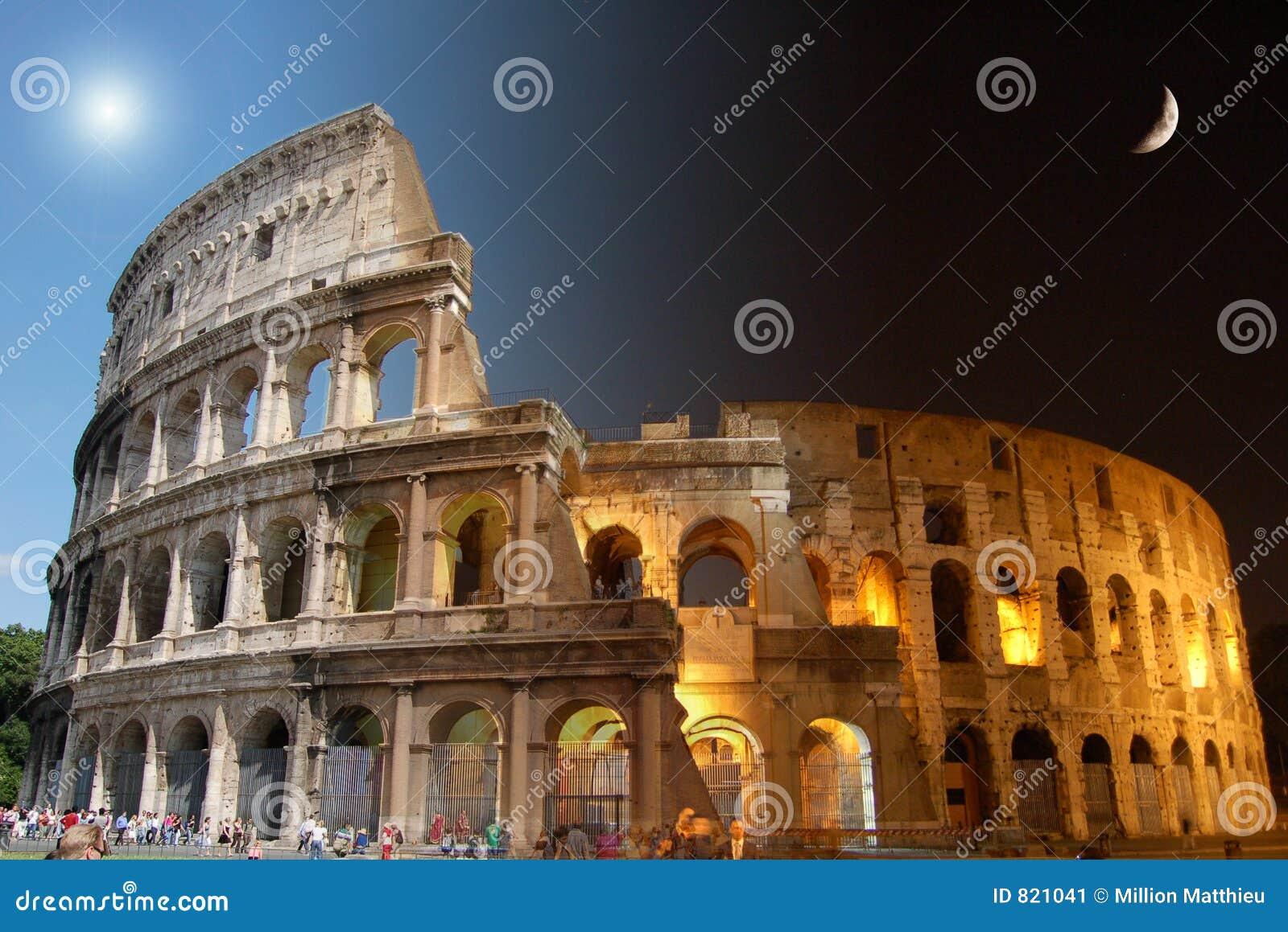 Colosseum, dia e noite