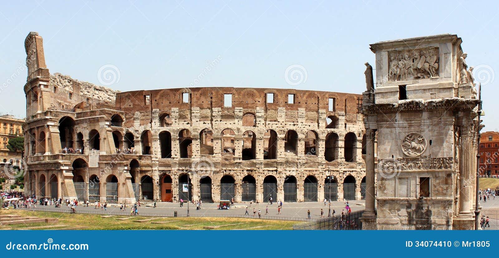 Colosseum e arco de Constantim
