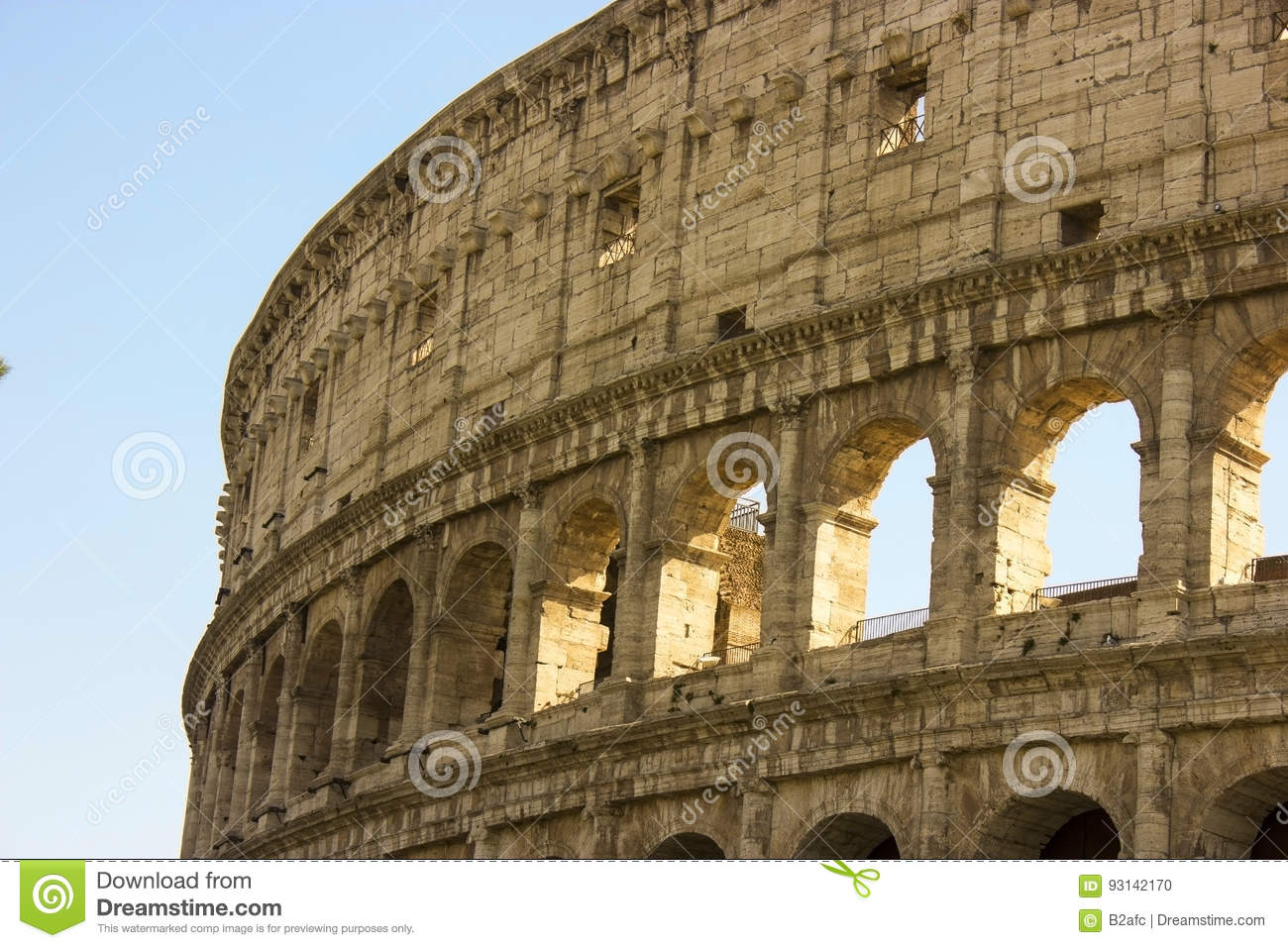 The Colosseum A Famous Gladiator Arena Stock Photo Image Of