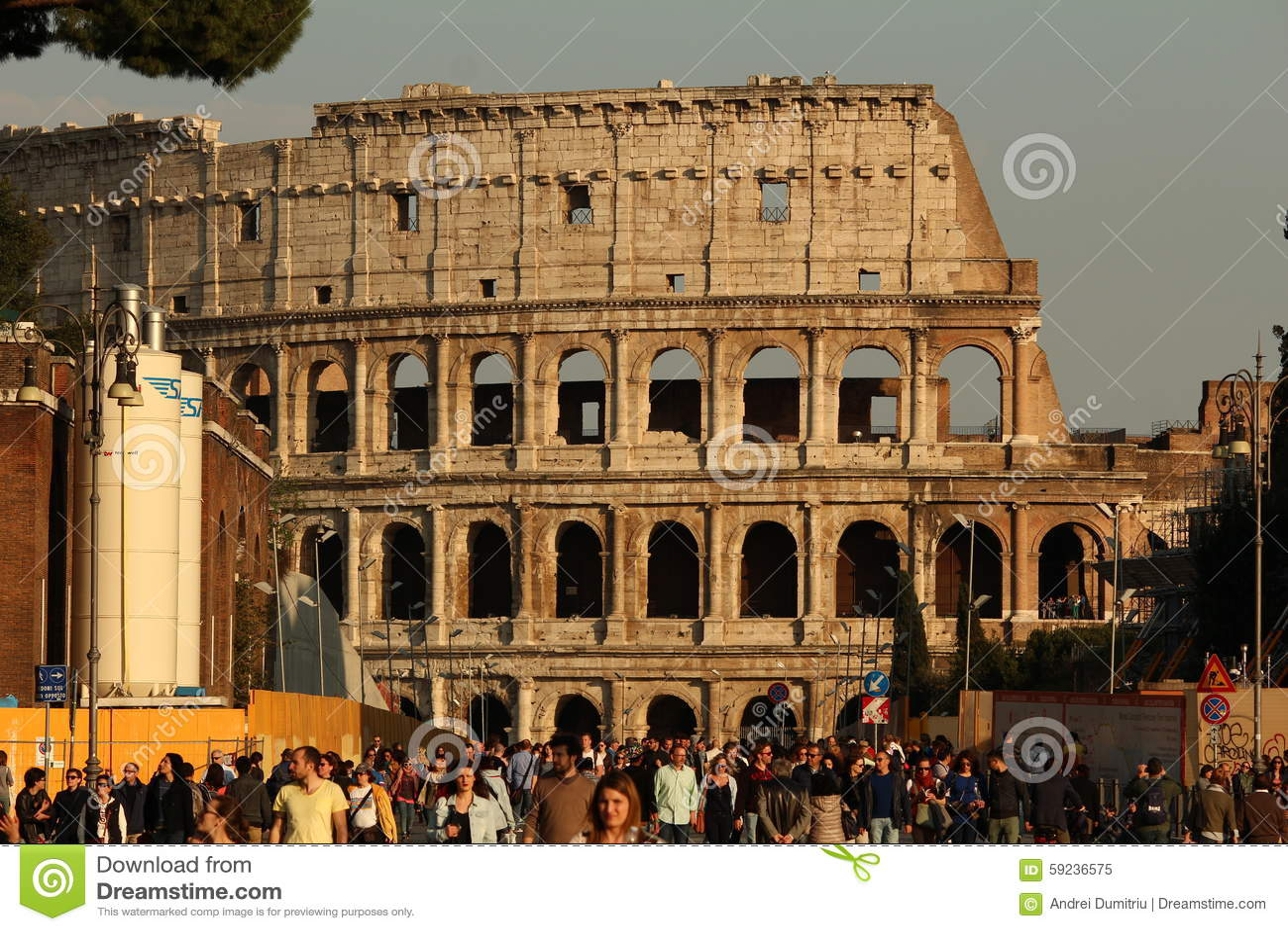 Colosseum przy zmierzchem