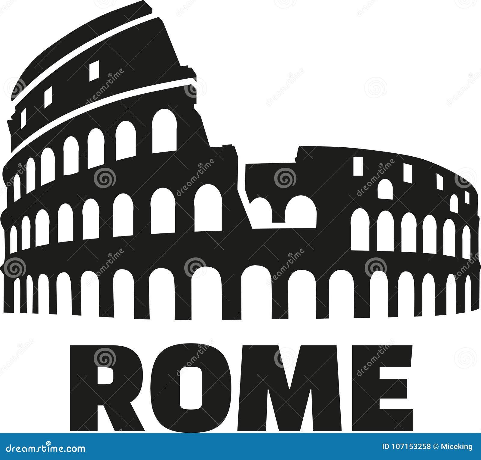 colosseum rome german stock illustration illustration of monument