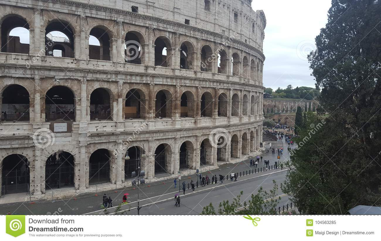 Download The Colosseum In Rome, Italy Editorial Image - Image of colosseo, city: 104563285