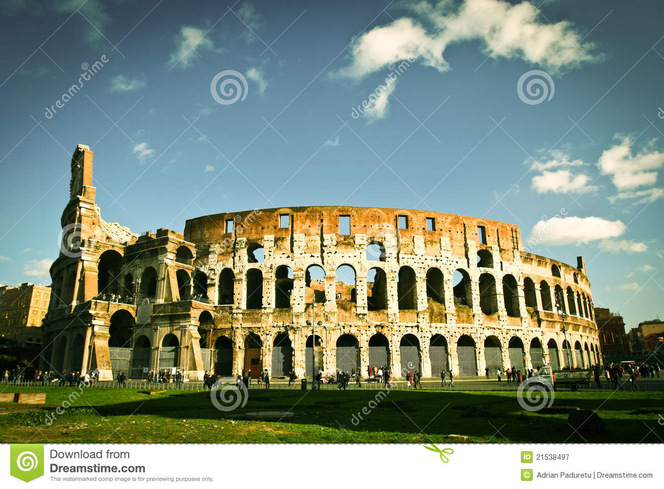 Colosseum in Rome at noon