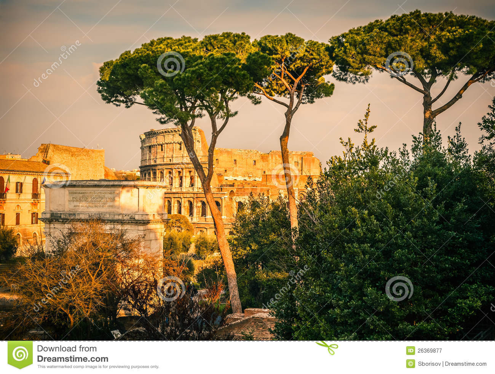 Colosseum am Sonnenuntergang