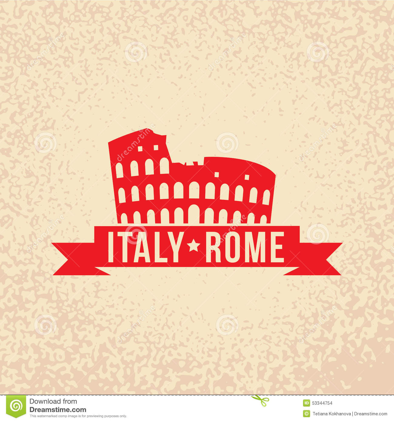 Colosseum The Symbol Of Rome Italy Stock Vector Illustration Of