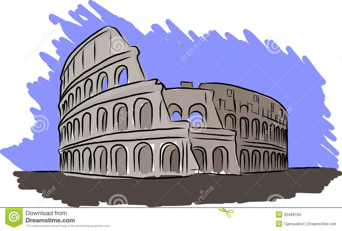 Colosseum Vector Sketch Stock Vector Illustration Of Line 35498183