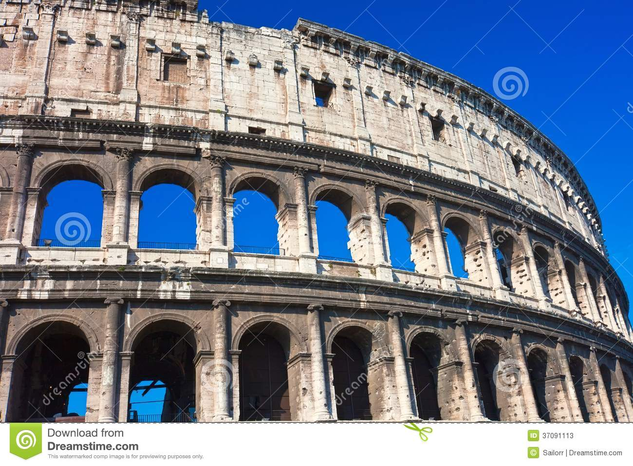 Download Colosseum w Rzym obraz stock. Obraz złożonej z arkada - 37091113