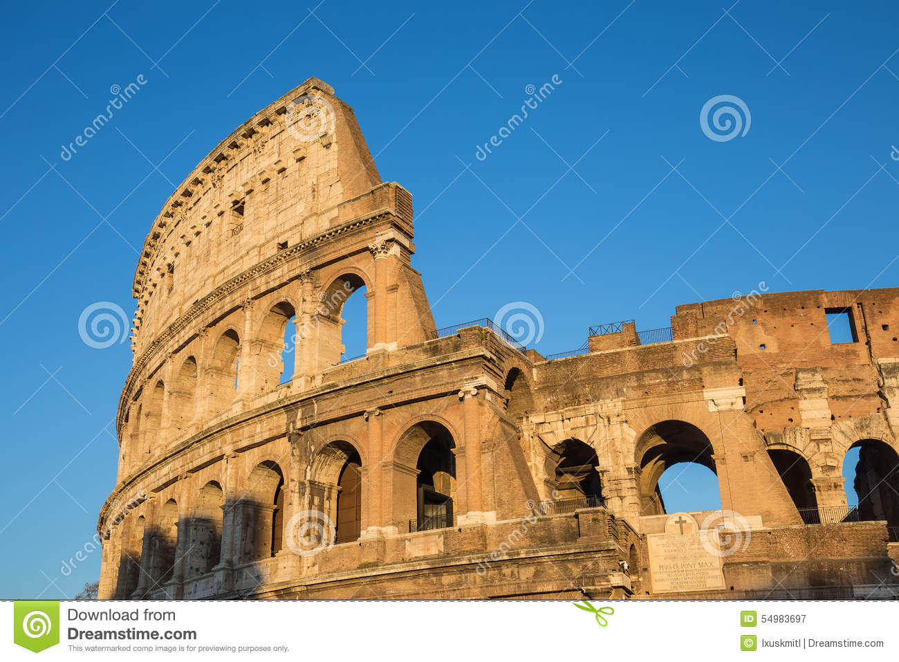 Colosseumitaly rome solnedgång