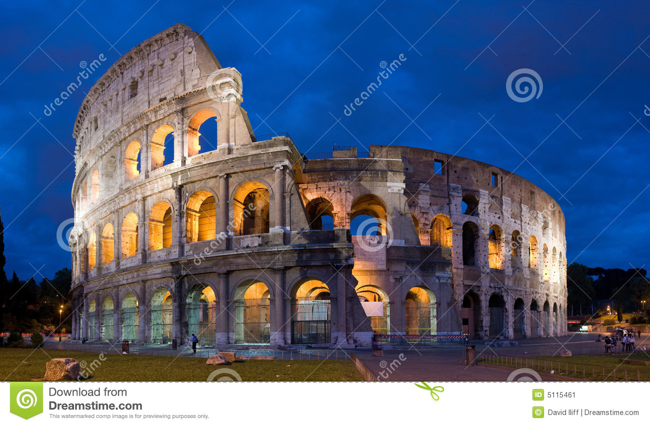 Colosseumskymning italy rome