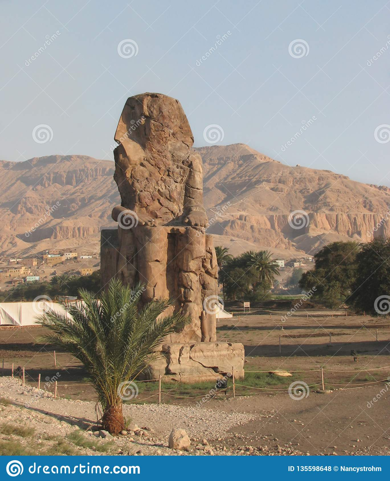 Colossus of Memnon, West Bank, Luxor, Egypt