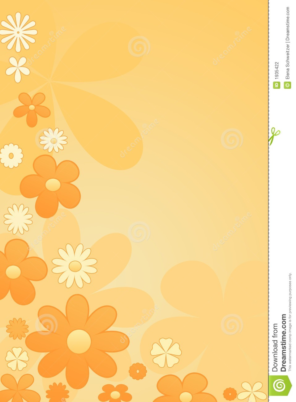 Orange Colour Background Flowers In