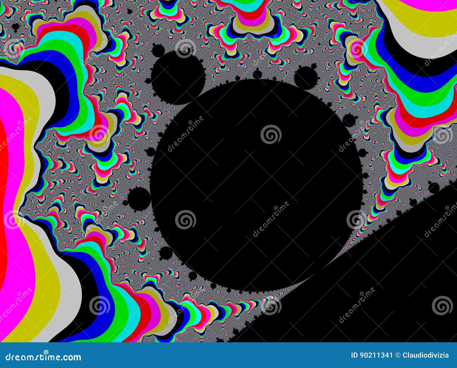 Colour fractal tło