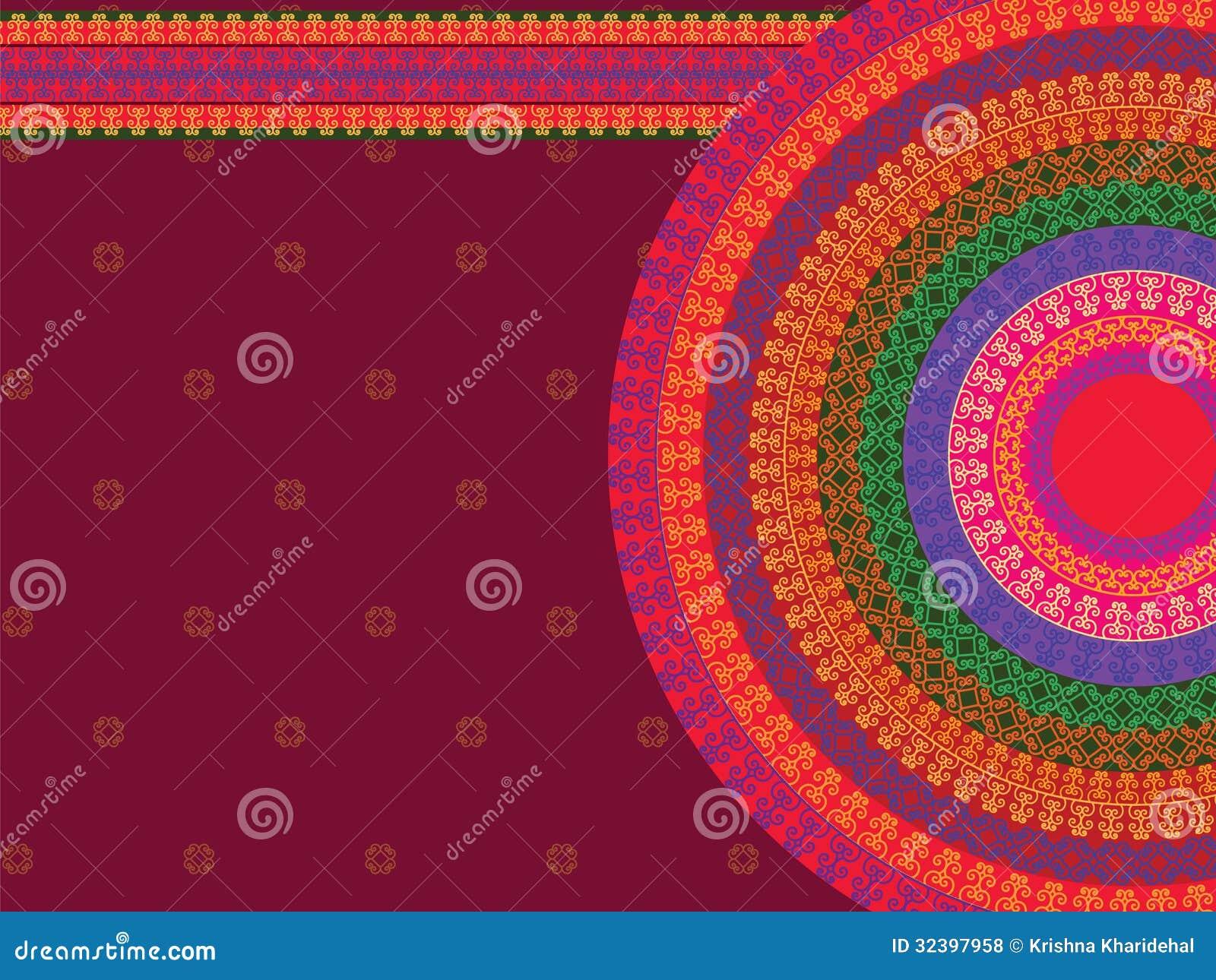 Colour Henna Mandala Background Royalty Free Stock Photos  Image 32397958