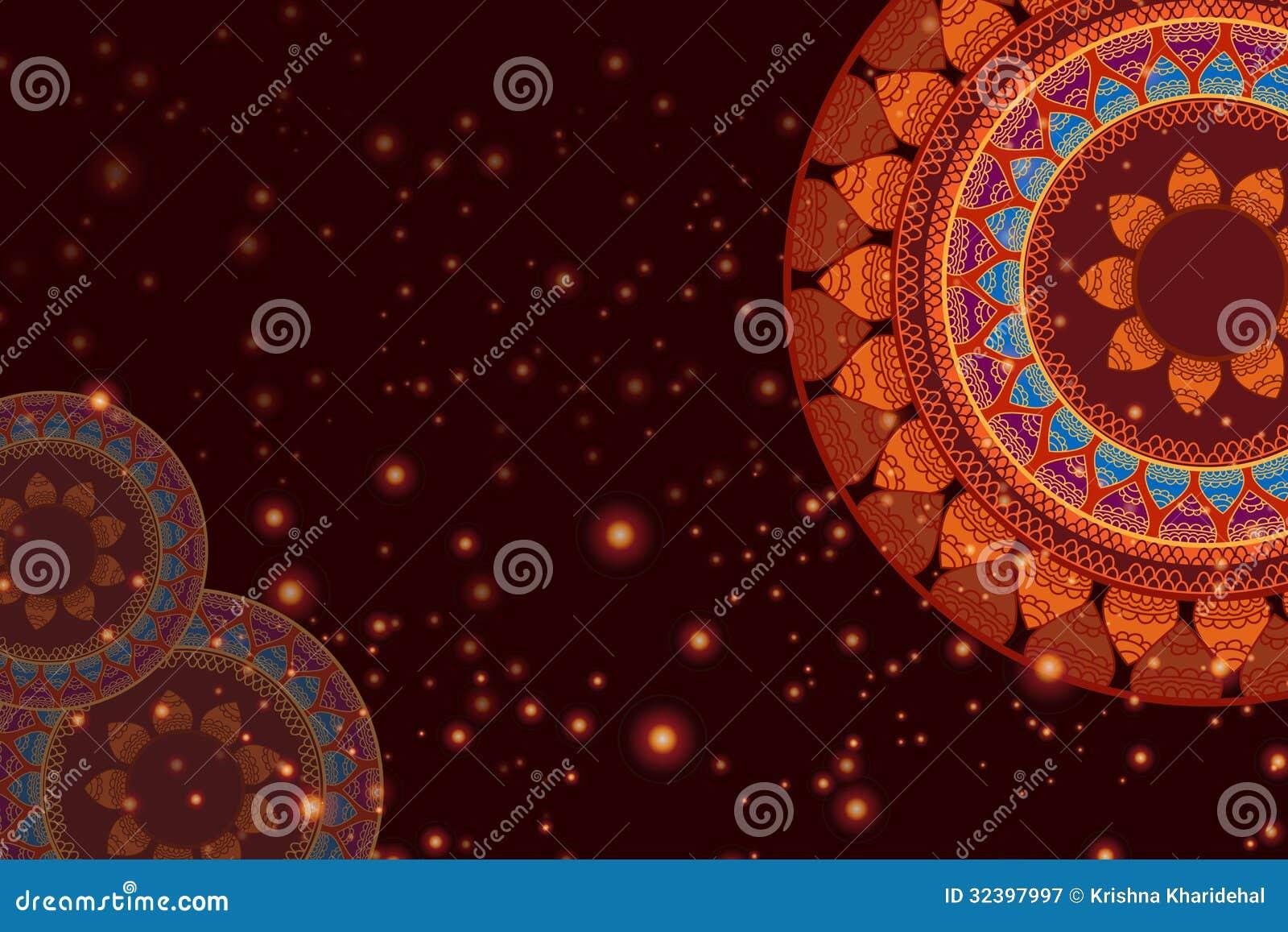 Colour Henna Mandala Background Royalty Free Stock Photography  Image 32397997