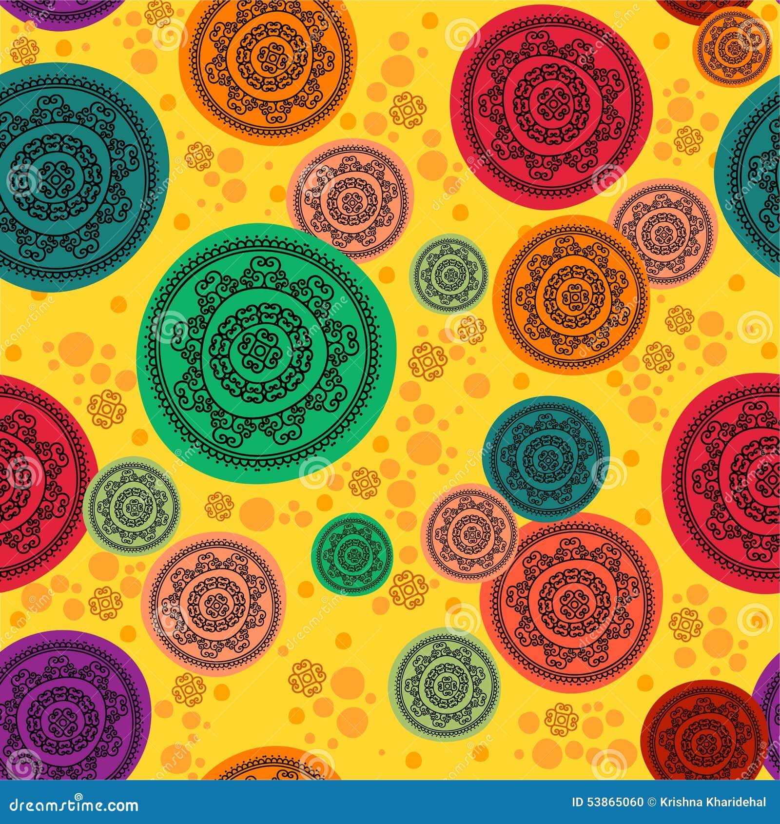 colour henna mandala background stock illustration image 53865060. Black Bedroom Furniture Sets. Home Design Ideas