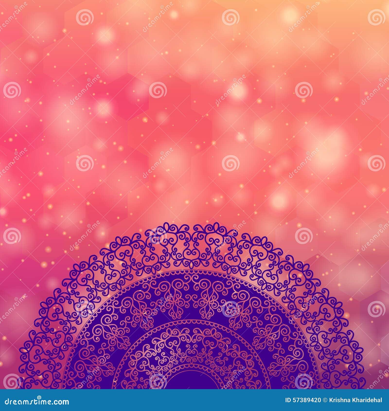 Colour Henna Mandala Background Stock Vector  Image 57389420