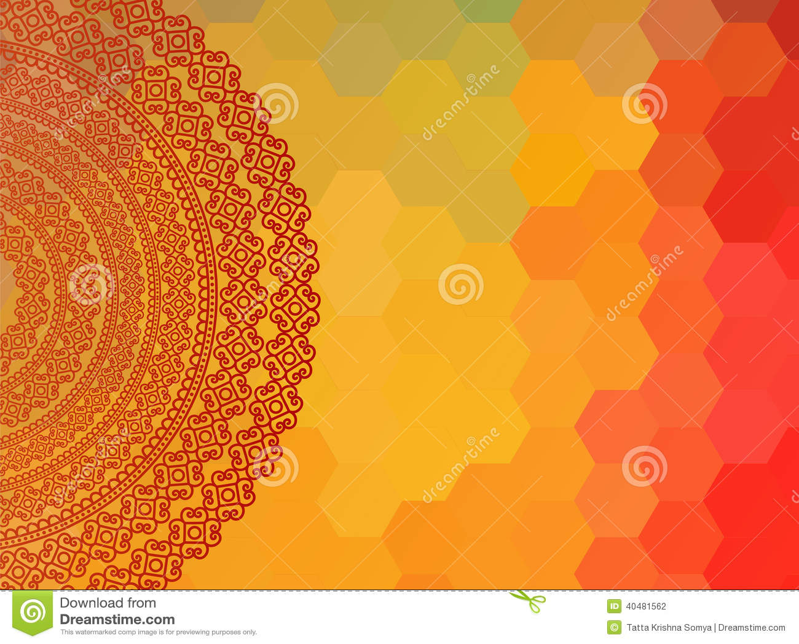 Colour Henna Mandala Background Illustration 40481562 Megapixl