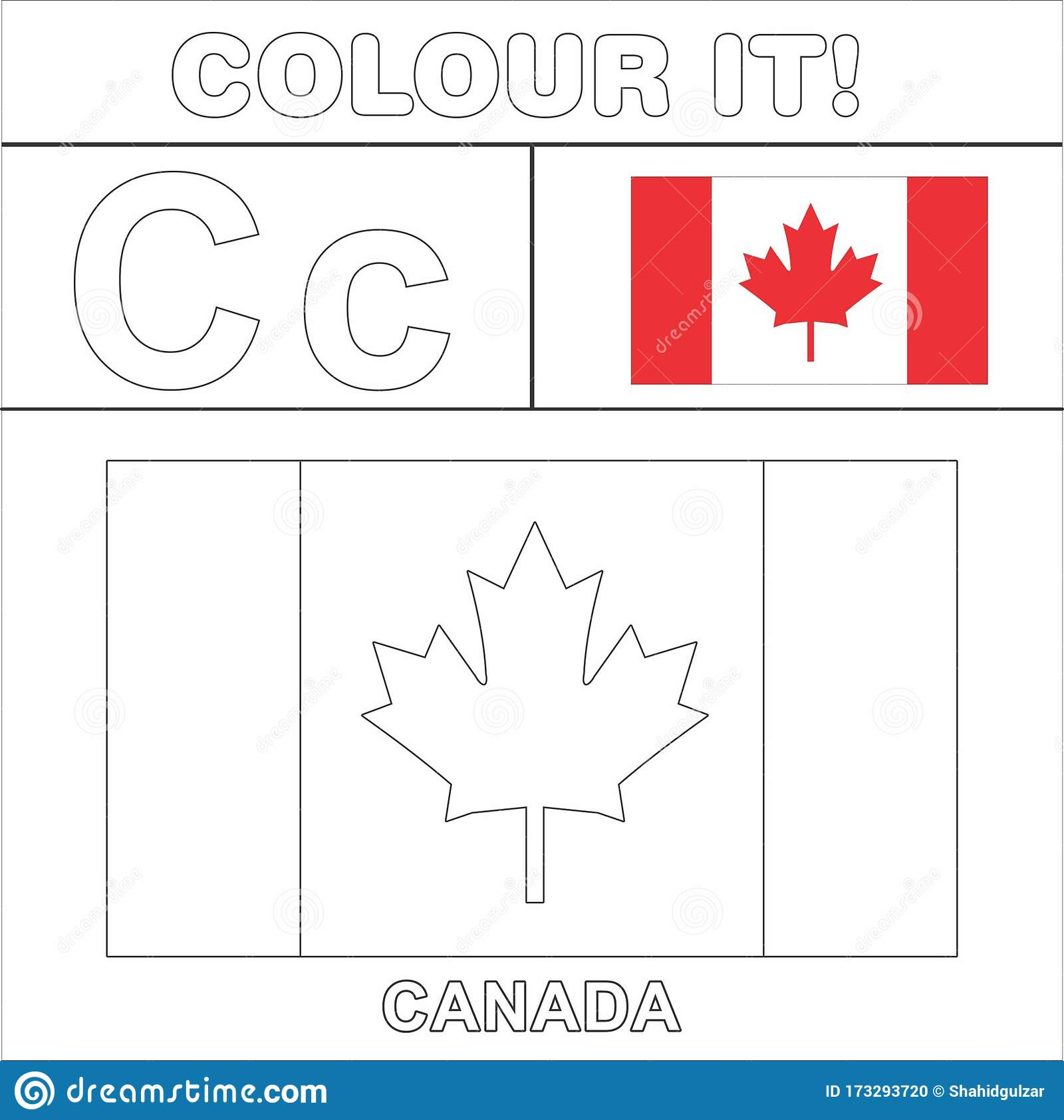 - Colour It Kids Colouring Page Country Starting From English Letter