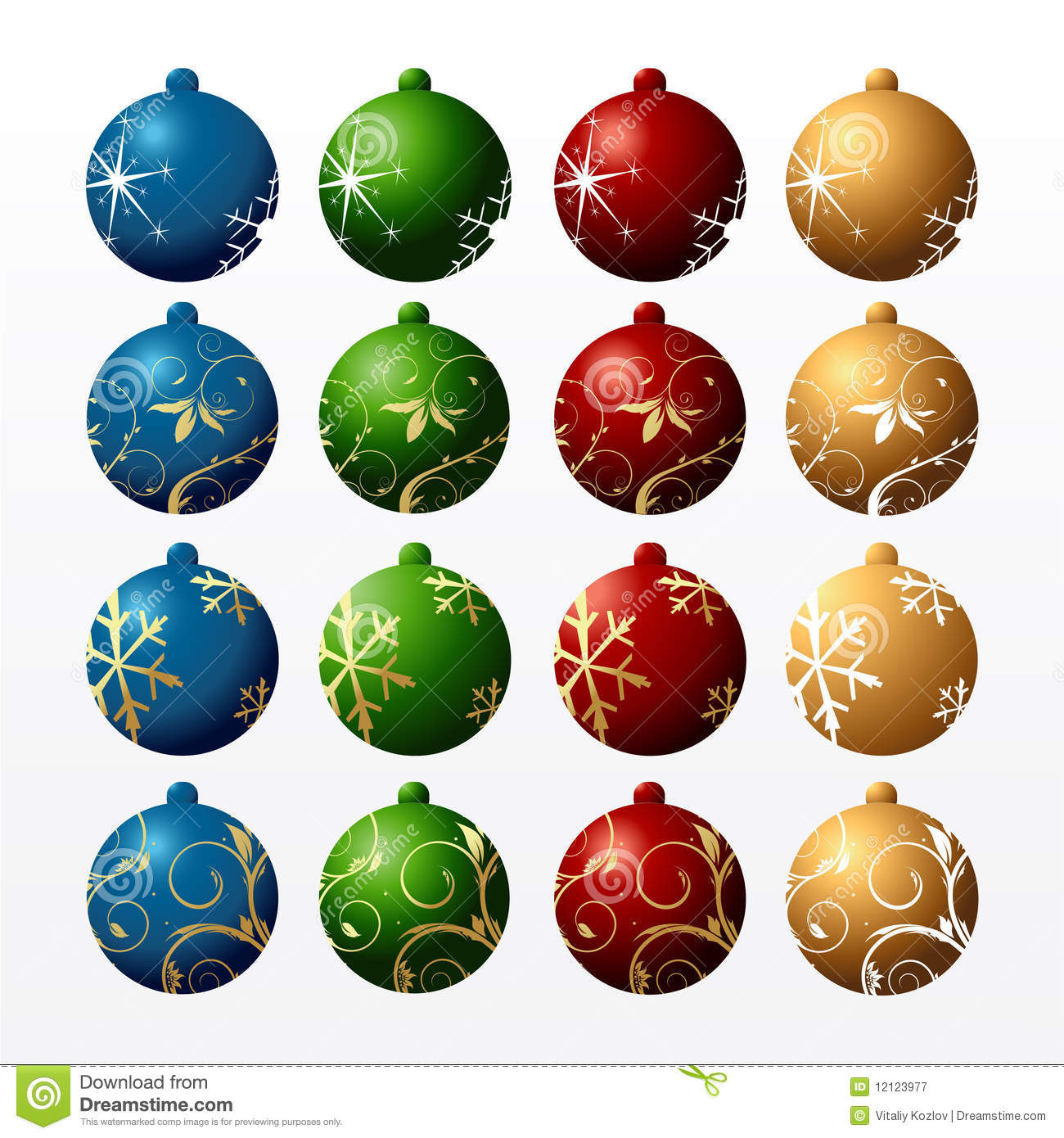 Colour New Year s balls