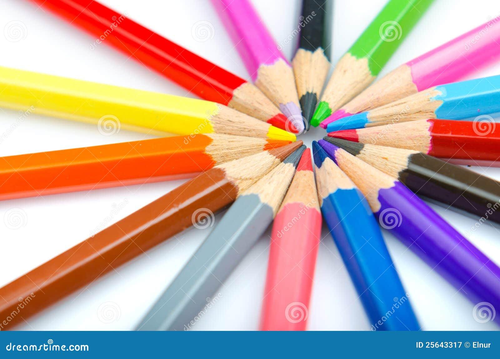 Colour pencils - creativity concept