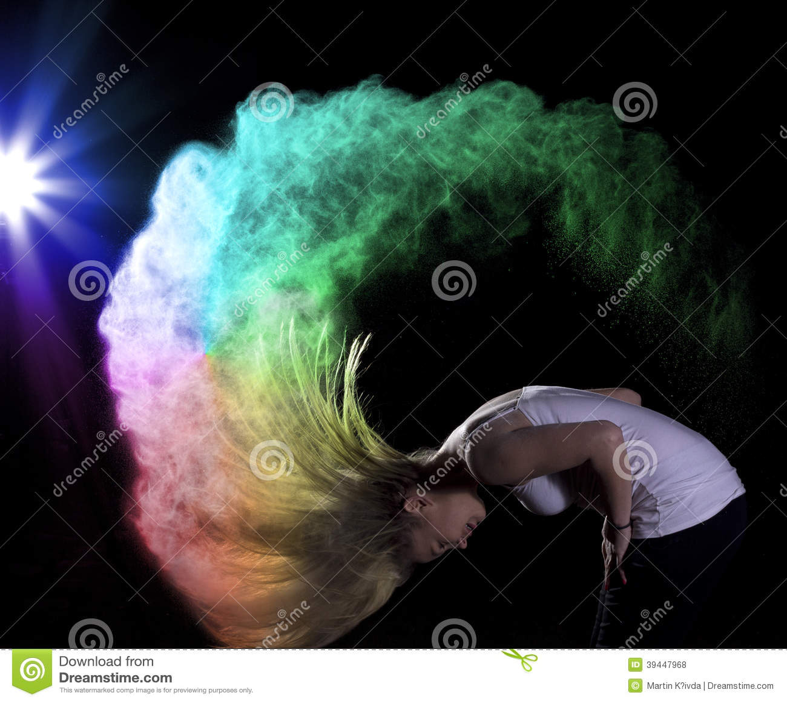 Colour Powder Photo Shoot Stock Photo Image 39447968