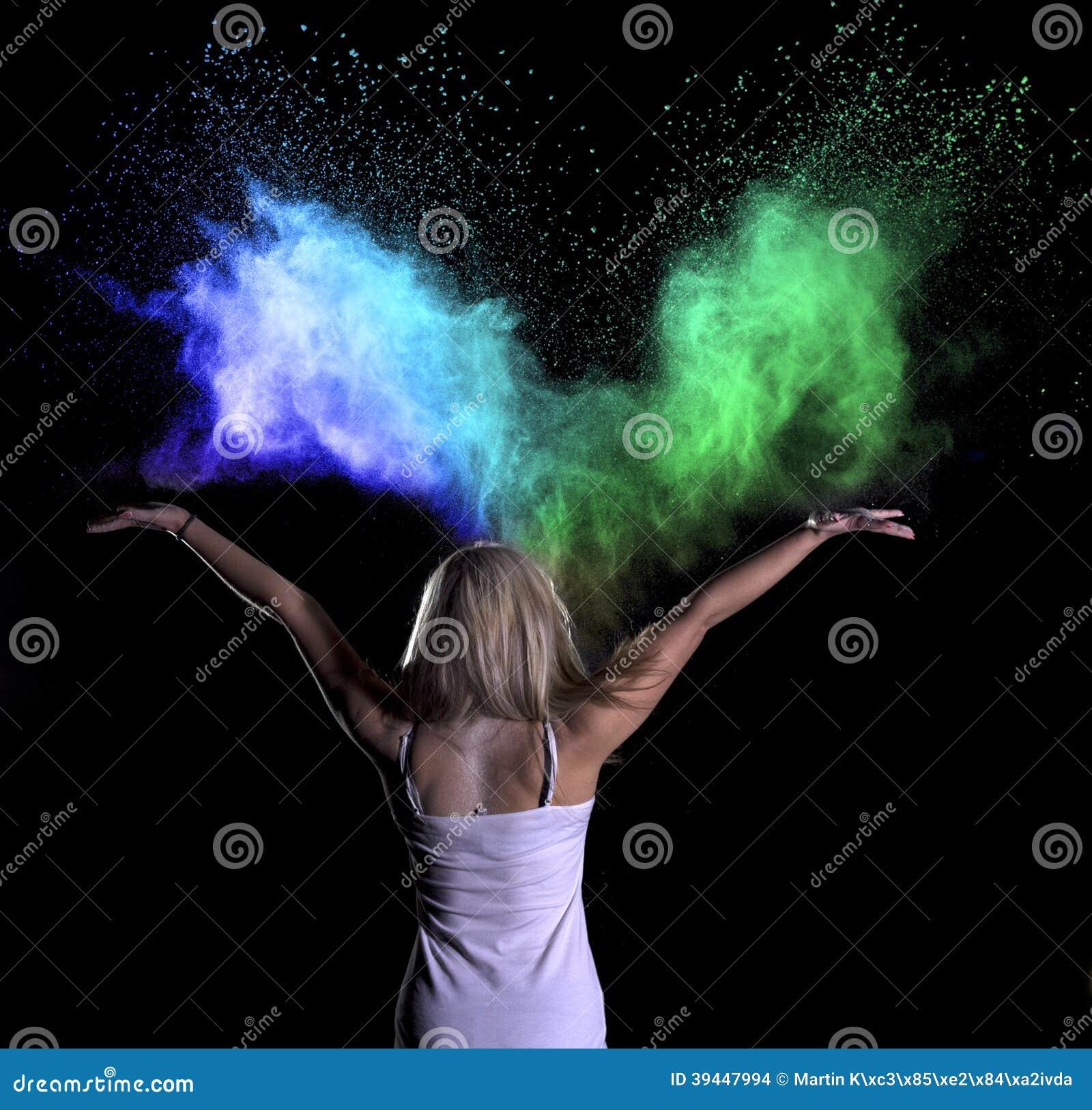 Colour Powder Photo Shoot Stock Photo Image 39447994