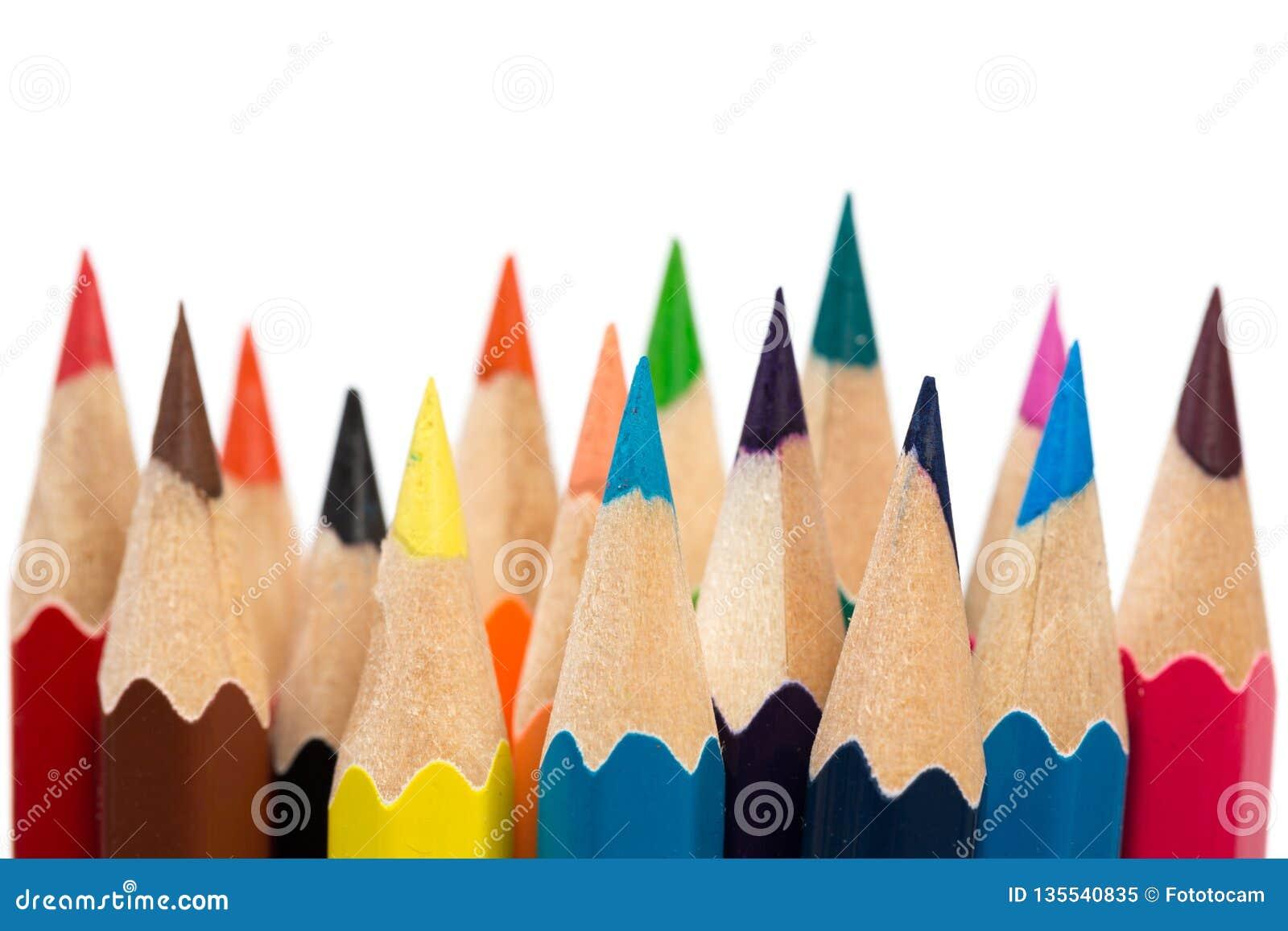 Colour sharpen pencils