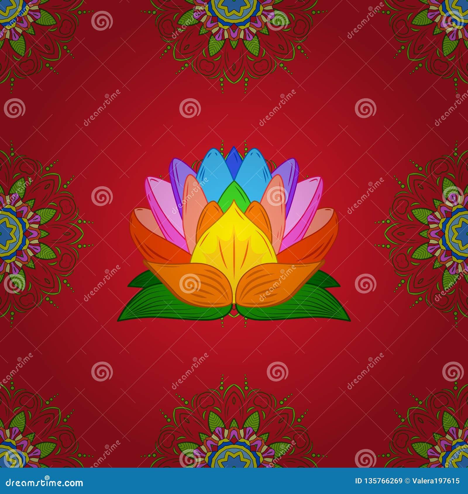 Colour Spring Theme seamless pattern Background