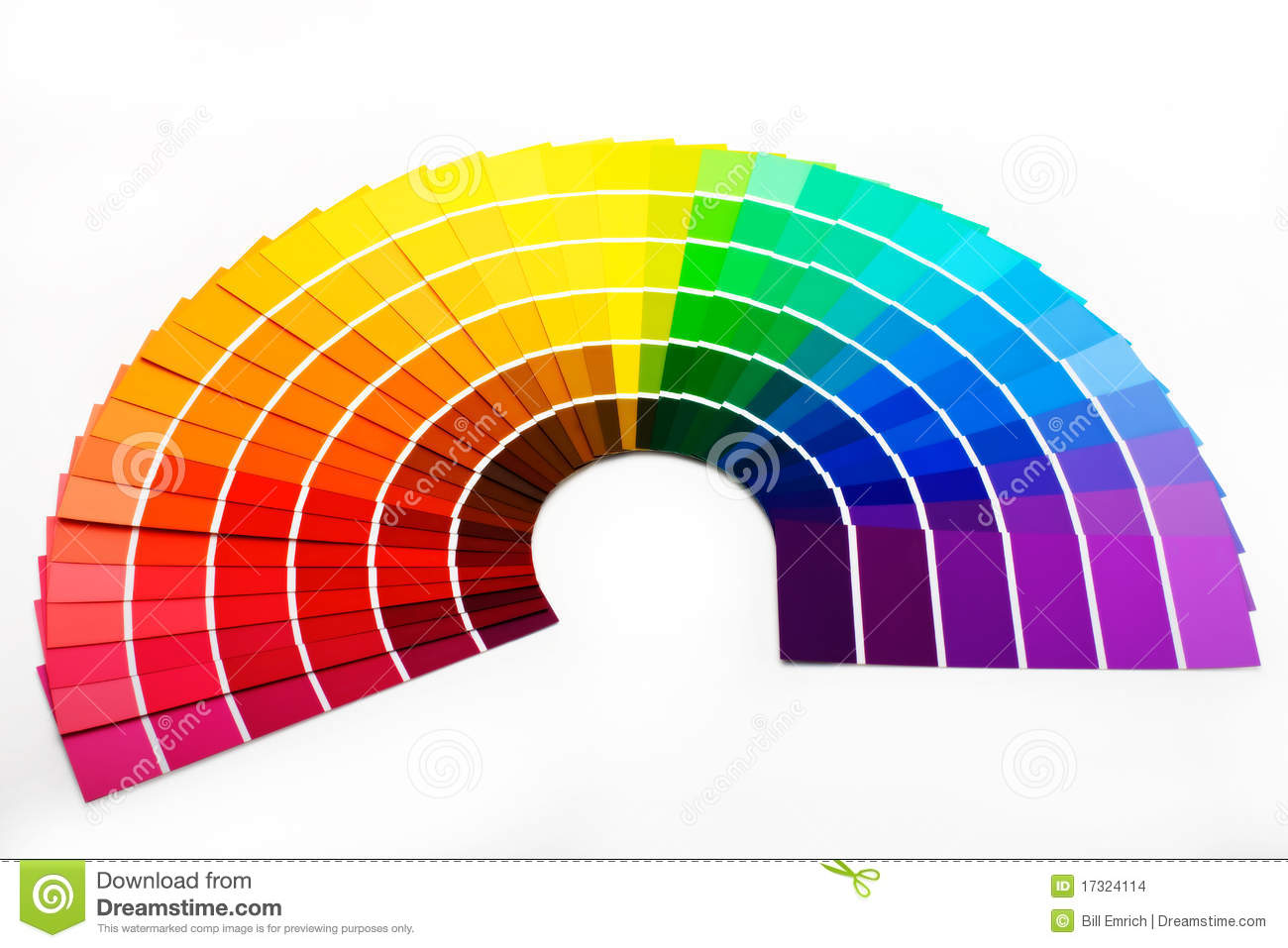 Colour Swatches Stock Images