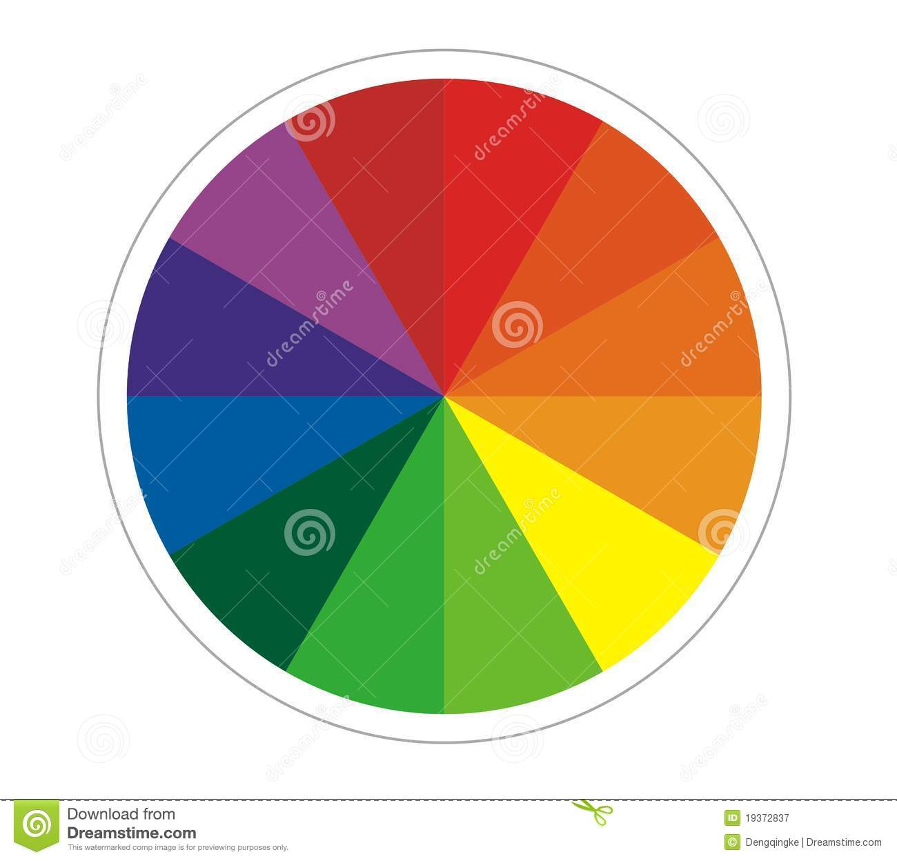 Colour wheel royalty free stock photography image 19372837 for Paint color spectrum