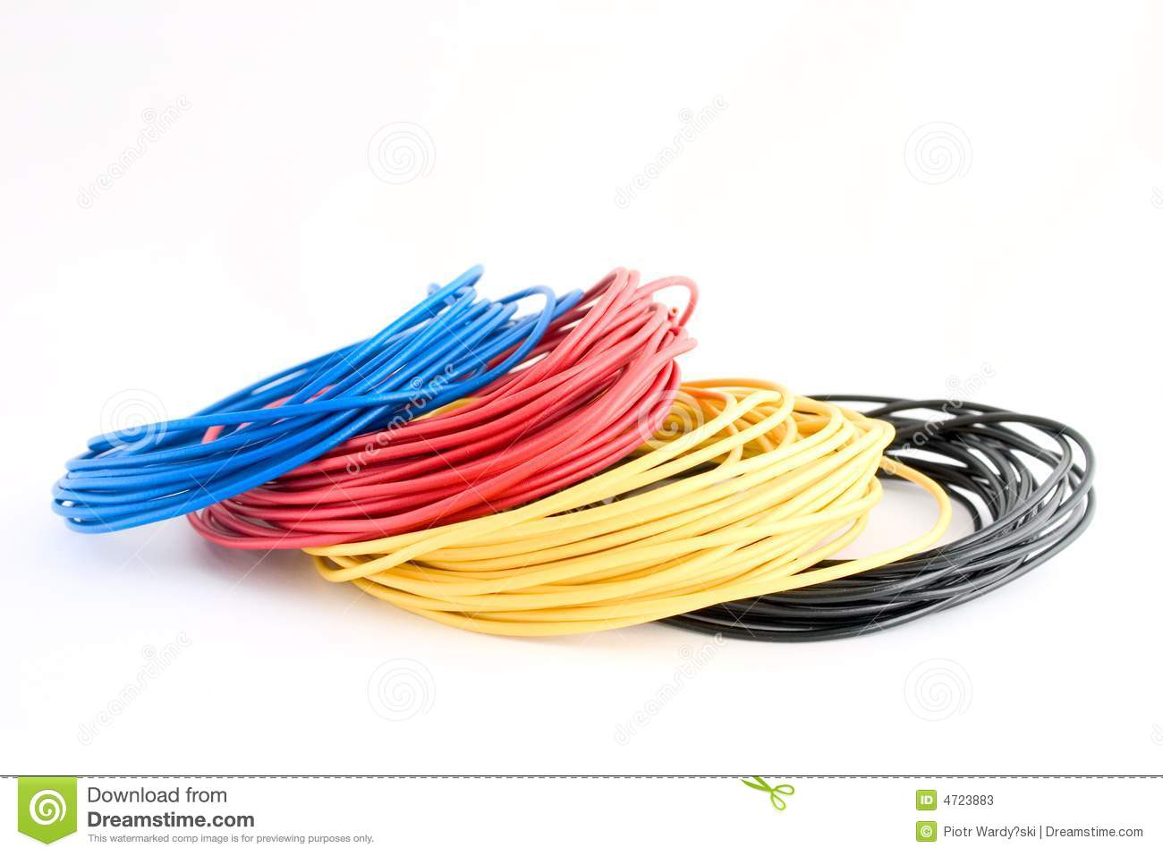 Colour wires stock image. Image of wires, colour, single - 4723883