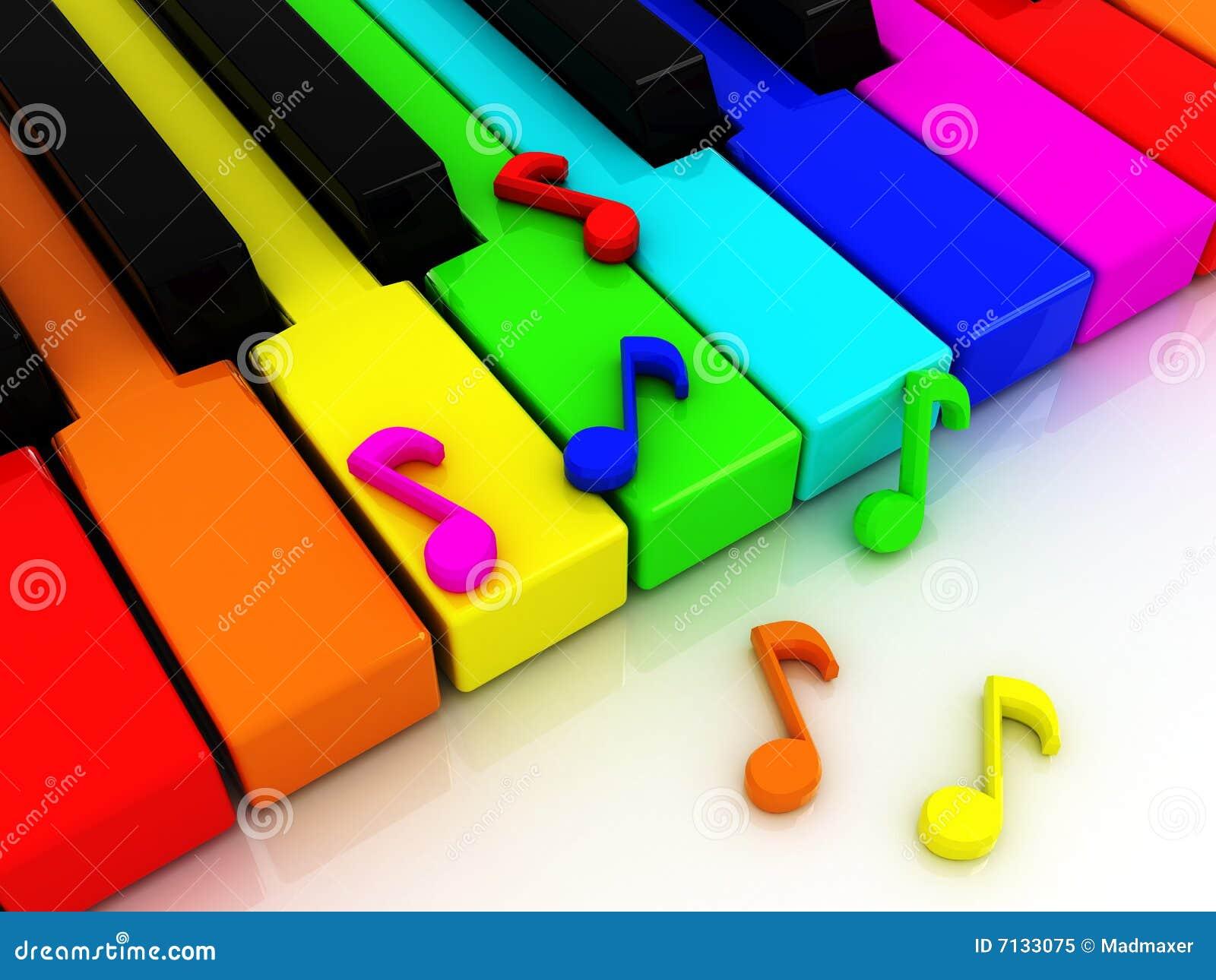 Colour wpisuje pianino