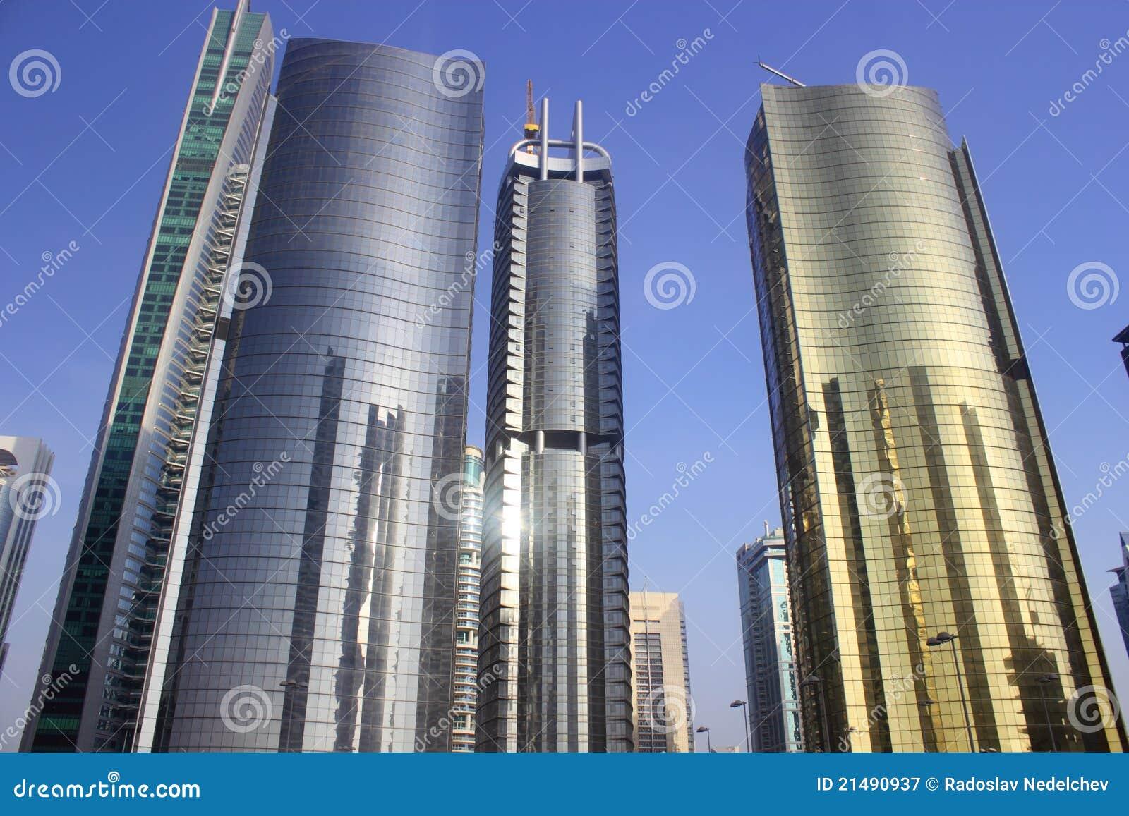 Colour złoty Dubai wierza