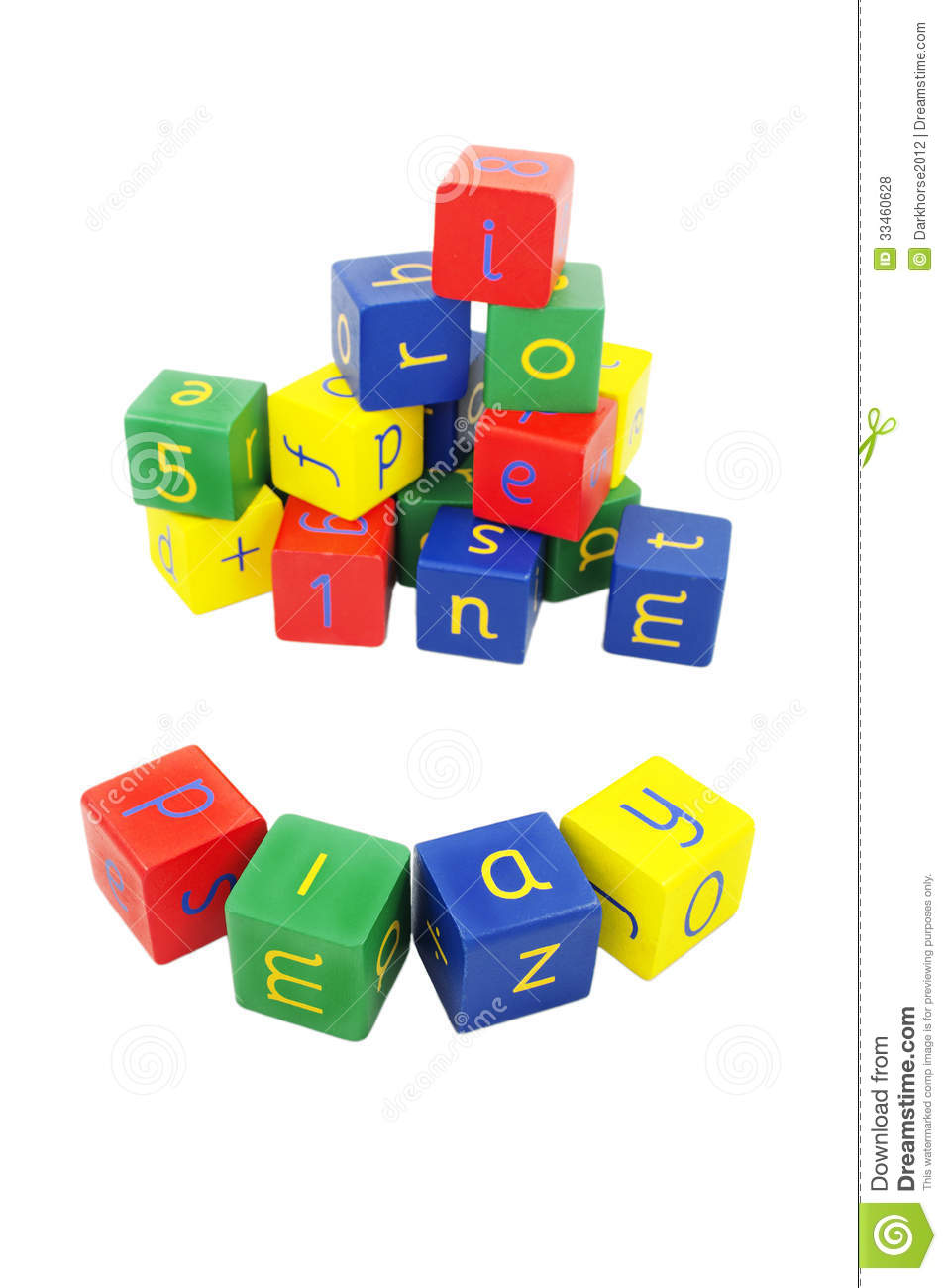 Letter And Number Blocks Stock Photo Image Of Piled