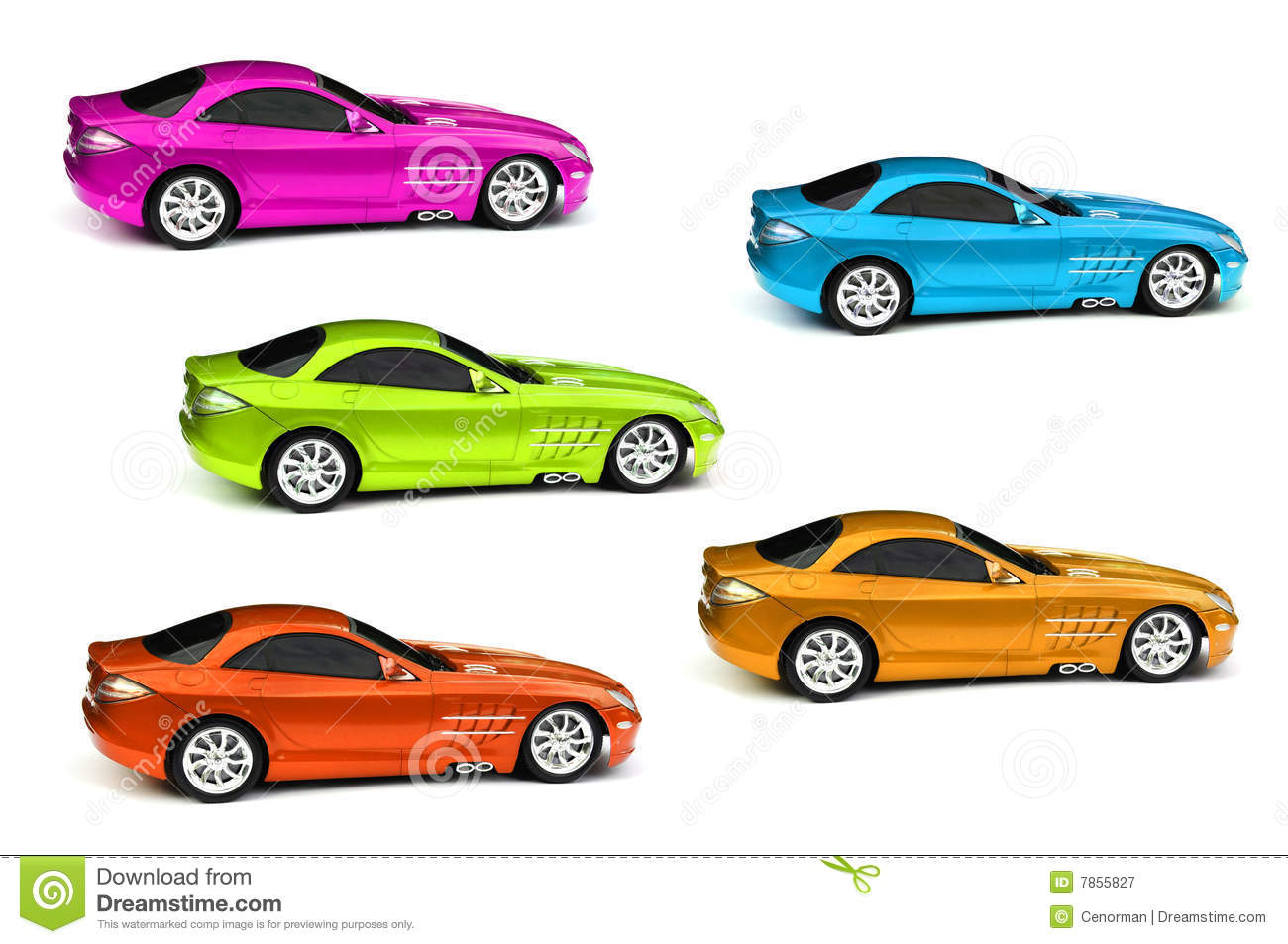Coloured Cars Royalty Free Stock Photography - Image: 7855827