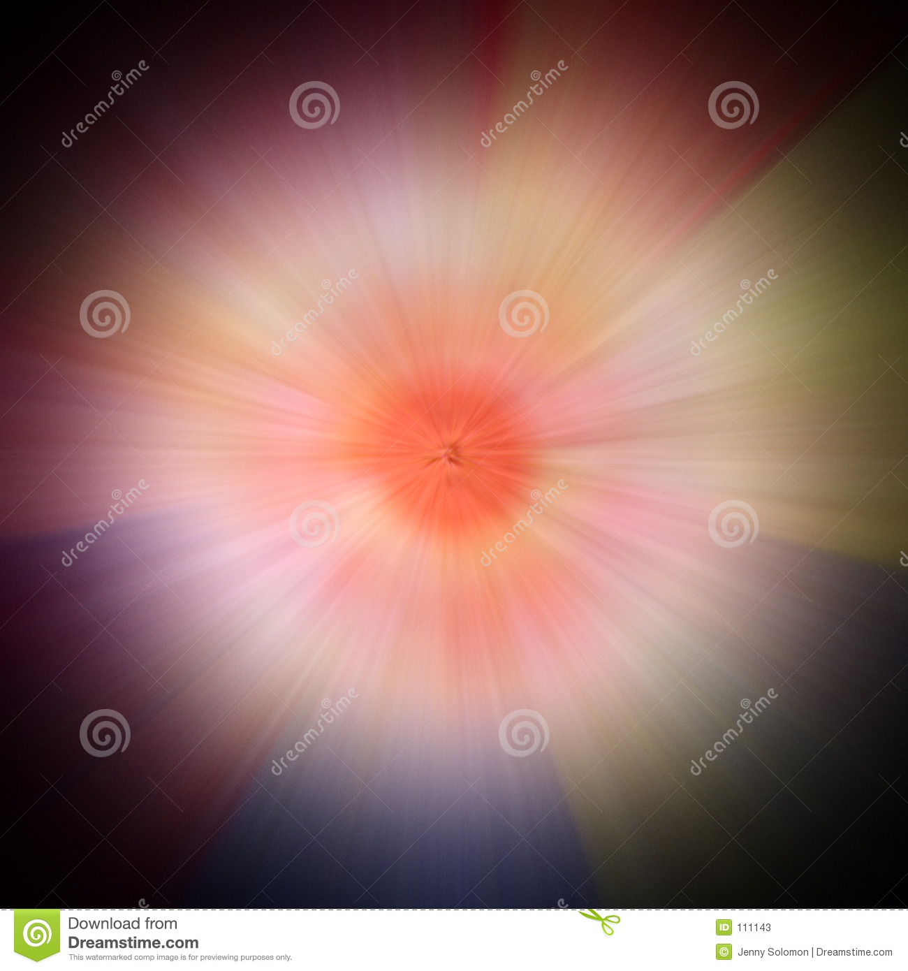 Coloured explosion