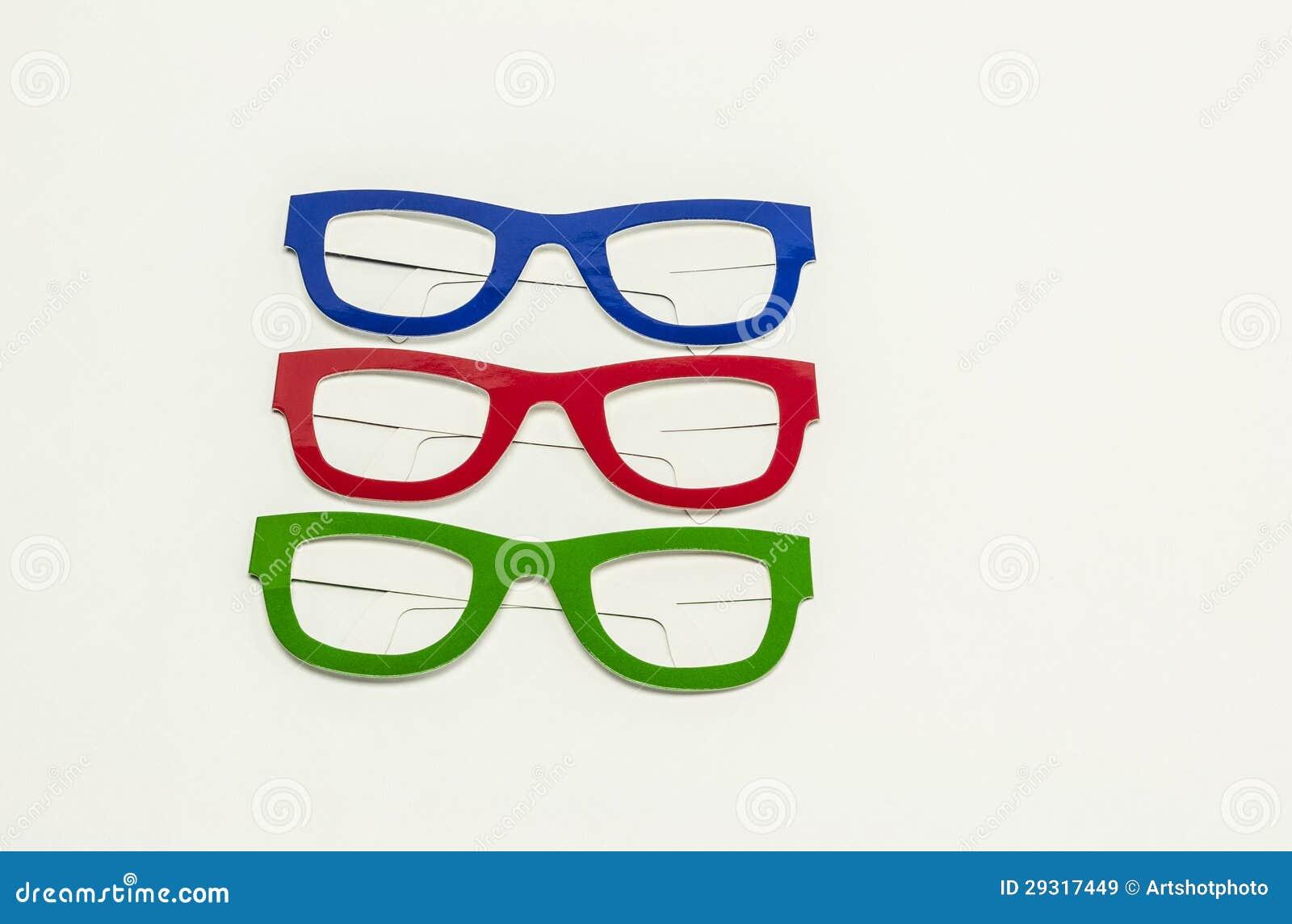 Coloured eyeglasses