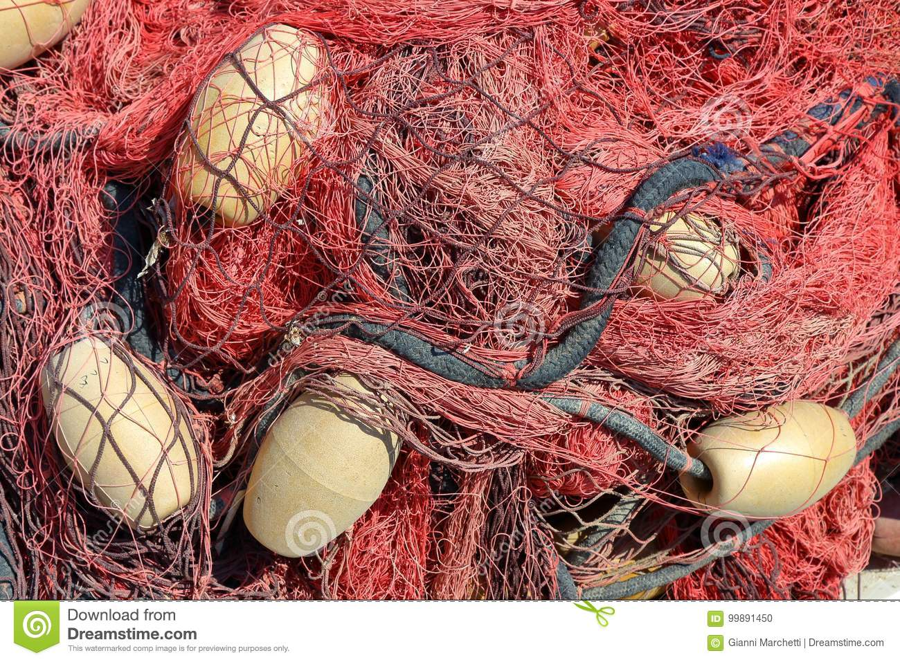 Coloured fish net stock photo. Image of blue, commercial - 99891450