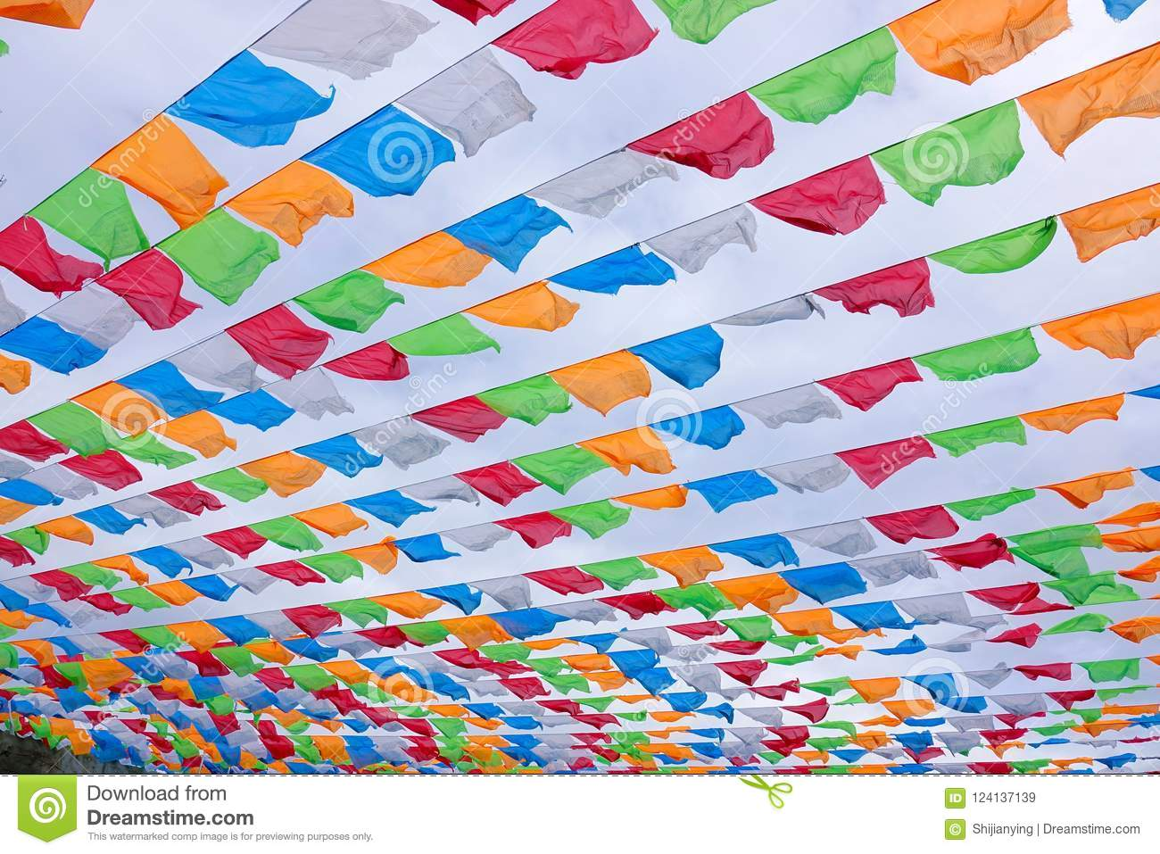 Coloured flags