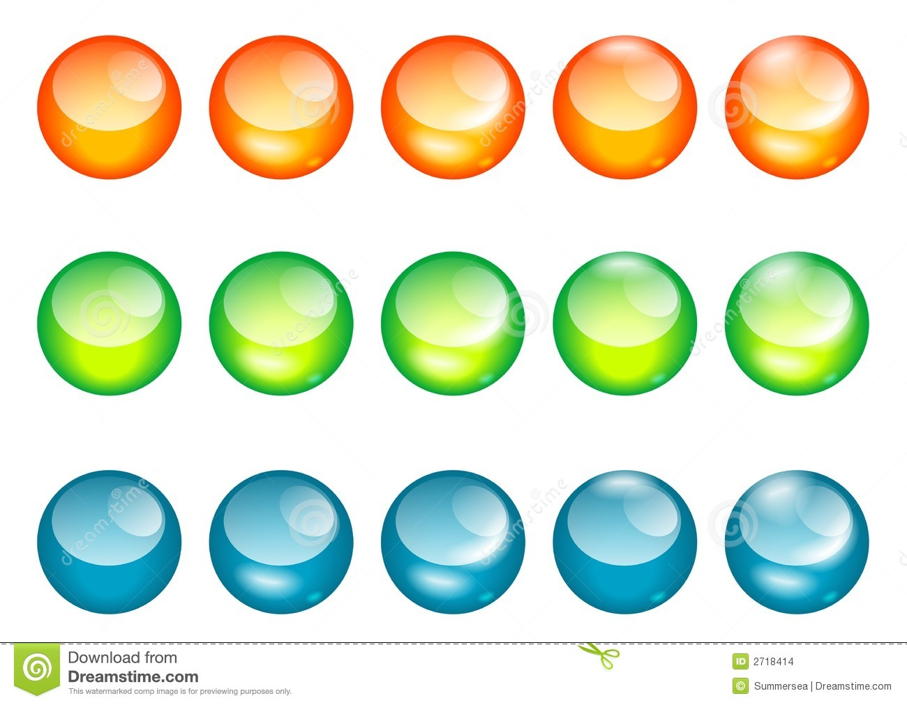 Download Coloured Glass Ball/web Button Stock Vector - Illustration of gems, beads: 2718414