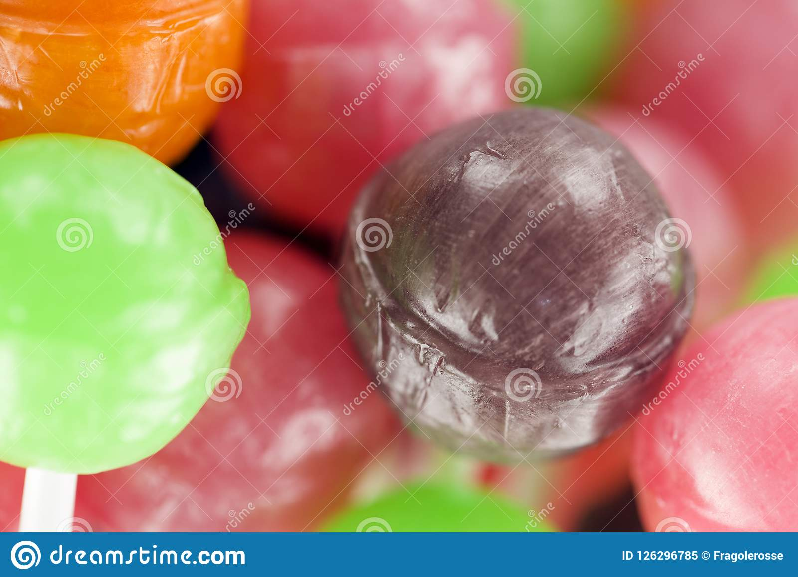 Lollipops with fruit bio