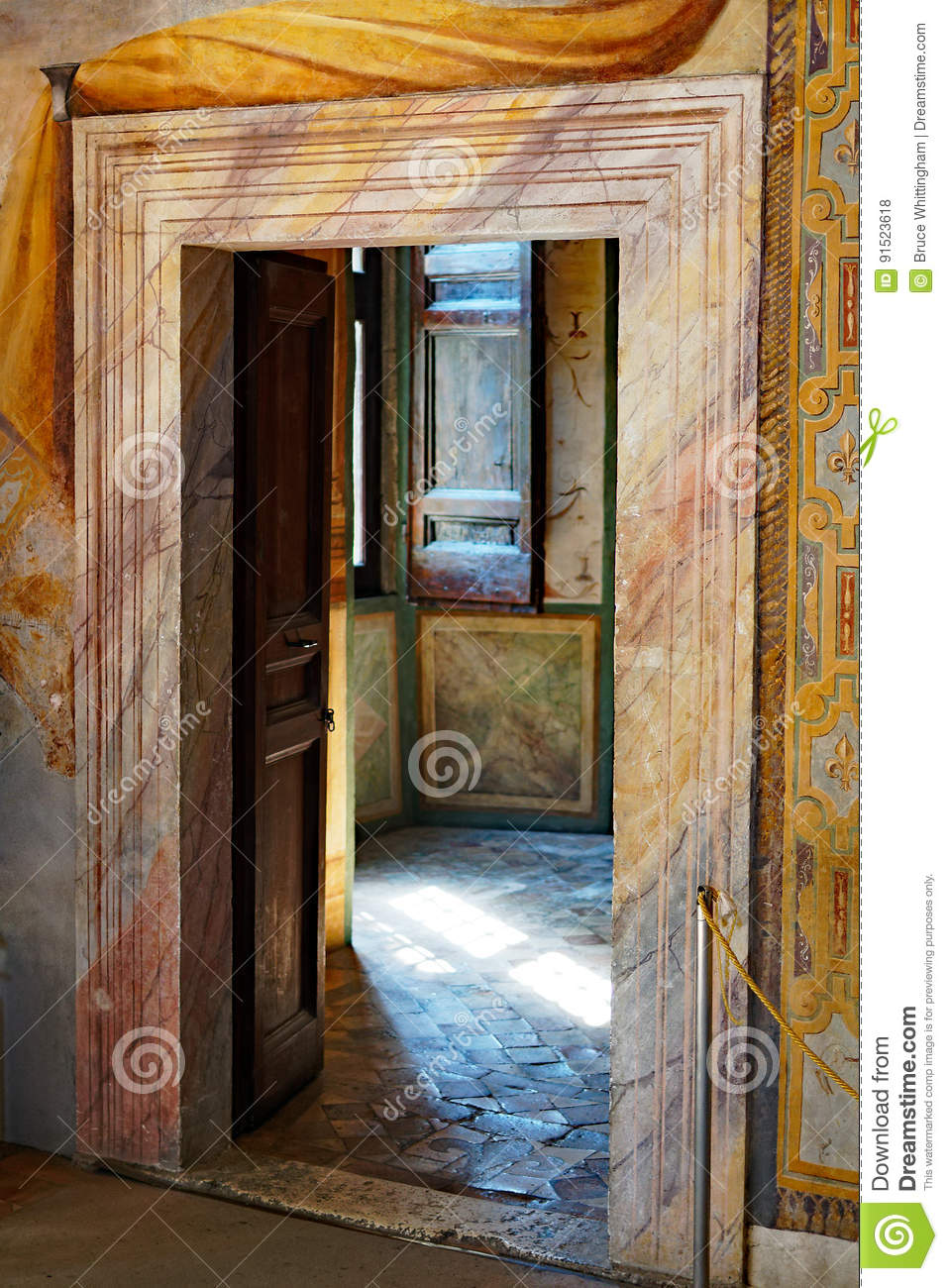 Coloured Marble Door Frame Villa D Este Italy Stock Photo Image
