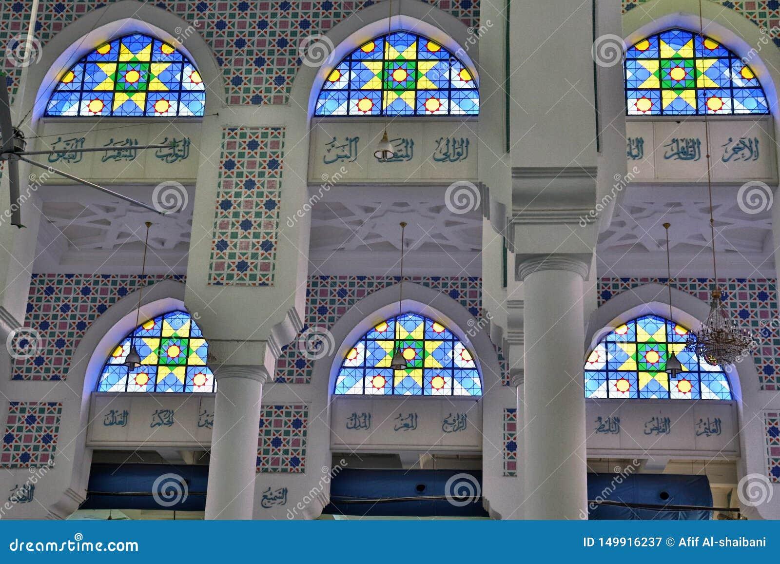 Coloured okno i Islamskie inskrypcje
